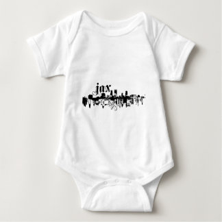 Camiseta Jacksonville JAX psto sobre para sua cidade