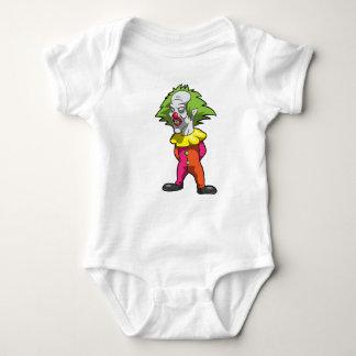 Camiseta Jérsei assustador Bodysuti do bebê