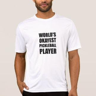 Camiseta Jogador de Okayest Pickleball dos mundos engraçado
