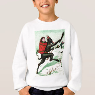 Camiseta Krampus que persegue a neve má do inverno das