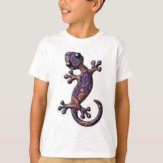 Camiseta Lagarto de escalada roxo azul do geco