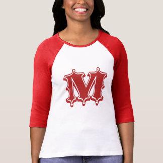 Camiseta Letra M