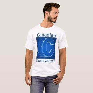 Camiseta Logotipo canadense do azul dos conservadores