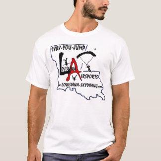 Camiseta Logotipo de Skydiving dos AirSports de Louisiana