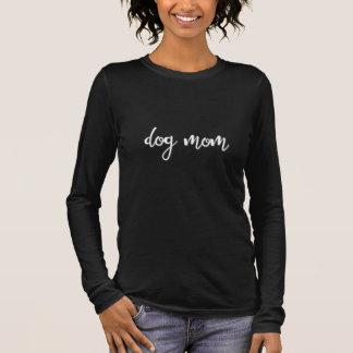 Camiseta longa da luva da mamã do cão