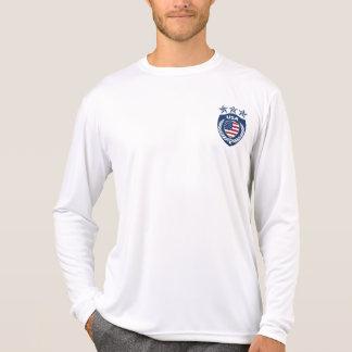 Camiseta Luva longa personalizada da Micro-Fibra do jérsei