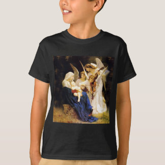 Camiseta Madonna e criança e três anjos