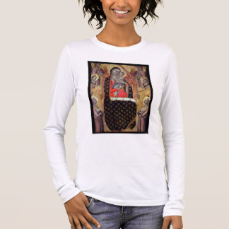 Camiseta Madonna e criança enthroned com seis anjos (painel