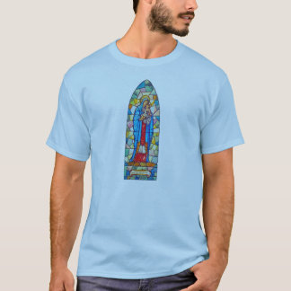 Camiseta Madonna e estilo do vitral da natividade da