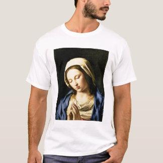 Camiseta Madonna na oração (óleo em canvas)