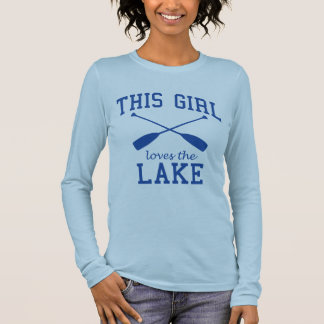 Camiseta Manga Longa Esta menina ama o lago