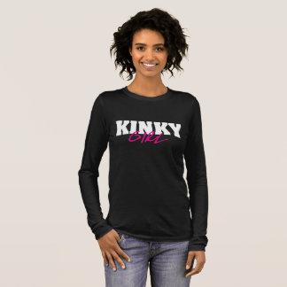 Camiseta Manga Longa Luva longa da menina Kinky