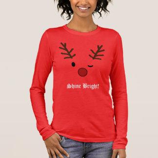 Camiseta Manga Longa Natal da rena