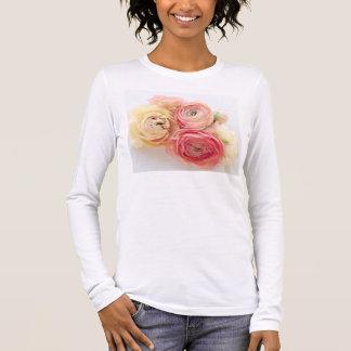 Camiseta Manga Longa senhoras mornas das cores do ranúnculo mais o