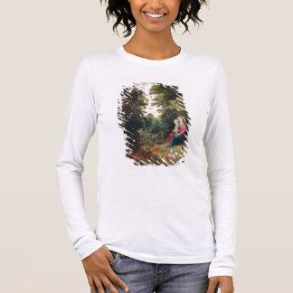 Camiseta Manga Longa T32789 Madonna e a criança em uma paisagem (painel