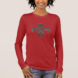 Camiseta Manga Longa Tampa do medidor de água da flor de lis