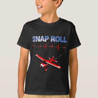 Camiseta Manobra Aerobatic do rolo instantâneo com avião