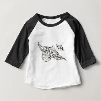 Camiseta manta-raios da mamã e do bebê