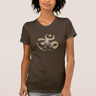 Camiseta Mediação & ioga do símbolo do OM do vintage de