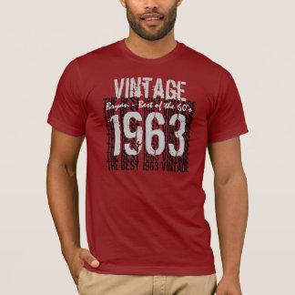 Camiseta Melhor 1963 do vintage do nome feito sob encomenda