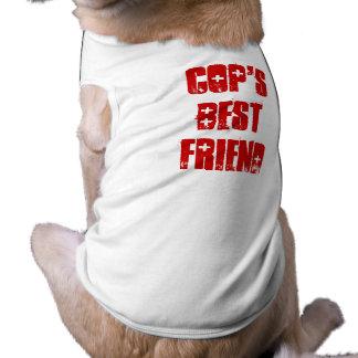 Camiseta Melhor amigo bonito do canino da polícia
