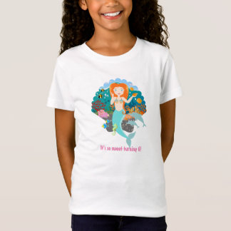 Camiseta Menina do aniversário da sereia