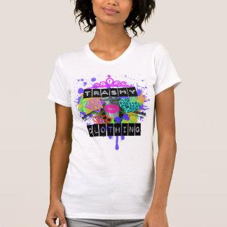 Camiseta Meninas inúteis da roupa V cortado