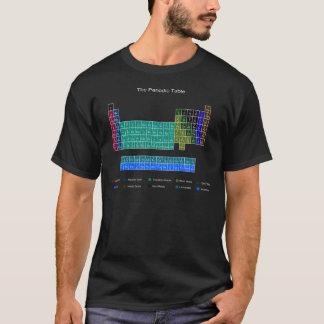 Camiseta Mesa periódica à moda - azul & preto