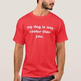 Camiseta meu cão é refrigerador da maneira do que você