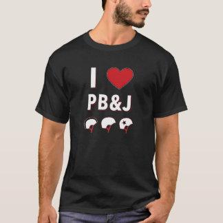 Camiseta Mim coração PB&J (pivô, construtor, jammer)