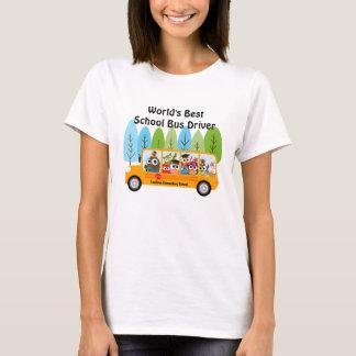 Camiseta Motorista de auto escolar do mundo bonito da
