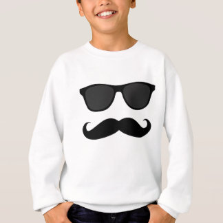 Camiseta Moustache e presente pretos do humor dos óculos de