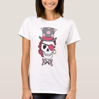Camiseta Mulberry do crânio do pirata do noivo