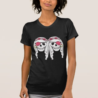 Camiseta Mulberry dos crânios do pirata da noiva na