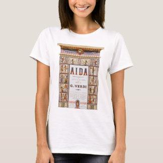 Camiseta Música da ópera do vintage, egípcio Aida por Verdi