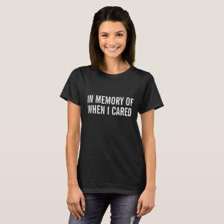 Camiseta Na memória de