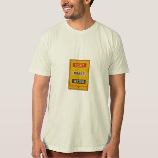 Camiseta não fazem as águas residuais