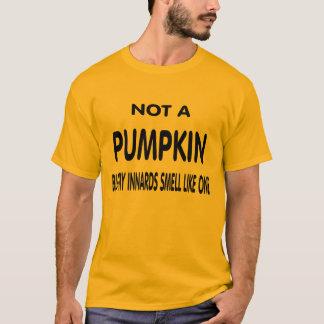 Camiseta Não uma abóbora
