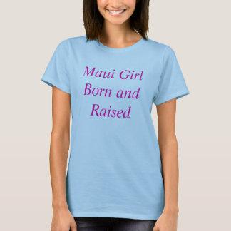 Camiseta Nascer da menina de Maui e aumentado