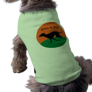 Camiseta Nascer para funcionar o design do galgo italiano