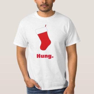Camiseta Natal de estoque pendurado engraçado