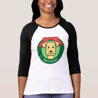 Camiseta Natal do golden retriever
