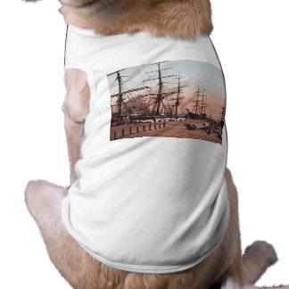 Camiseta Navios nos cais em San Francisco cerca de 1900