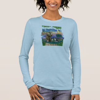 Camiseta No lago - golden retriever