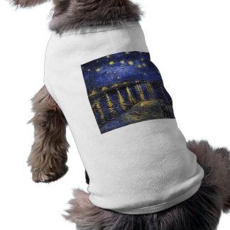 Camiseta Noite estrelado de Vincent van Gogh sobre o Rhone