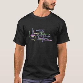 Camiseta Nuvem clássica da palavra dos compositores