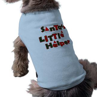 Camiseta O ajudante pequeno do papai noel, animais de