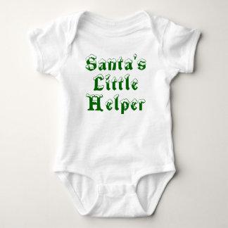 Camiseta O ajudante pequeno do papai noel - verde