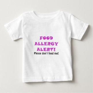 Camiseta O alerta da alergia de comida por favor não me