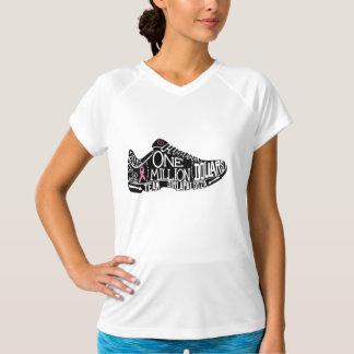 Camiseta O campeão seco dobro Wicking T das mulheres